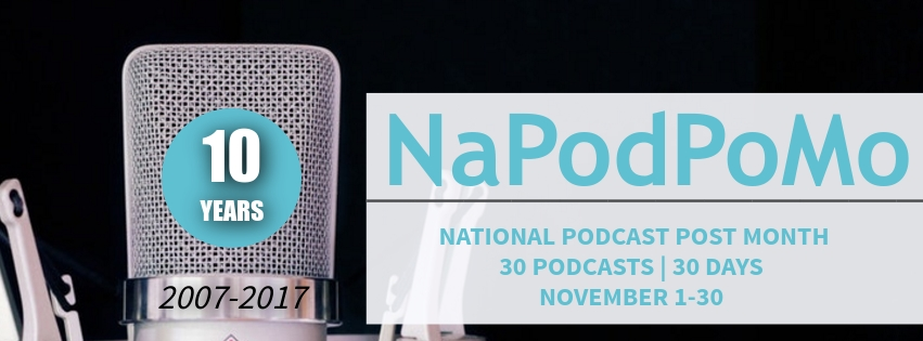 National Podcast Post Month Header